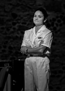 Virginie LOGAN chef du grand ensemble de cuivres de la musique des équipages de la flotte de Toulon
